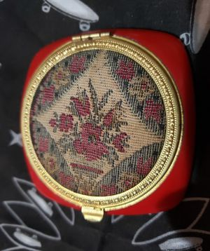 Vintage needlework mirrored compact for Sale in Springfield, MO