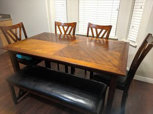 Beautiful table with 4 chairs and bench for Sale in Provo, UT