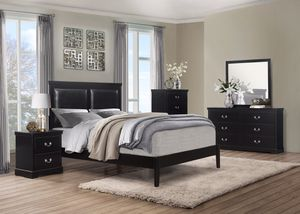 TOMORROW ONLY!!! (New In Boxes) Queen Size Black Bedroom Set for Sale in Atlanta, GA