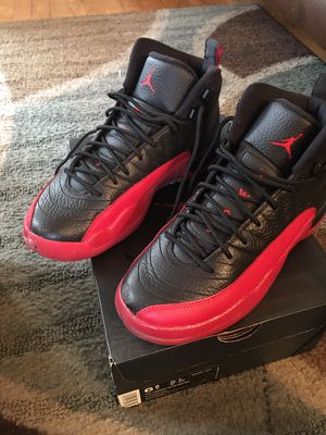Air Jordan 12 red and blk size 6 1/2 boys for Sale in Severn, MD