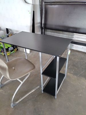 Black Computer Desk with Side Shelves for Sale in Dallas, TX