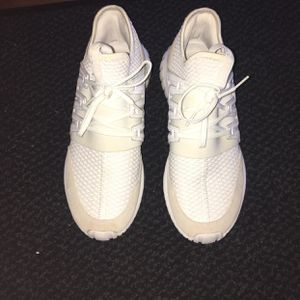 Slightly Worn White mens adidas Boost Shoes for Sale in Raleigh, NC