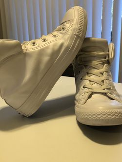 White Vegan Leather Converse All Stars for Sale in Seattle,  WA