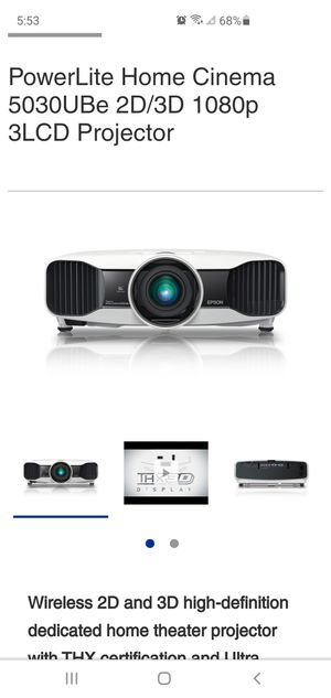 Epson 5030ube Home Theater Projector for Sale in Wrightsville, PA