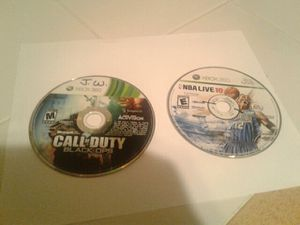 Black ops 1, NBA Live 10 working! for Sale in Benzonia, MI