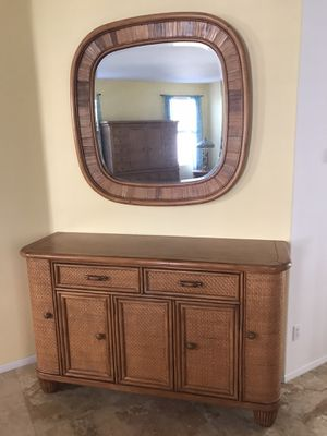 Gorgeous Tommy Bahama Solid Wood with Mirror Cabinet for Sale in Lake Elsinore, CA