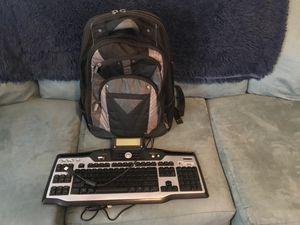 Logitech External Keyboard and Laptop Backpack for Sale in Clarksville, TN