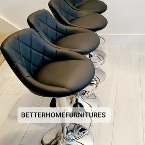 Modern Adjustable Barstools, bar stools with chrome base. Available in Gray, Black, Red, White and Brown $75 Each. for Sale in Fort Lauderdale, FL