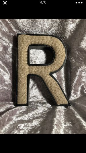 R letter metal burlap pin cushion? for Sale in Portland, OR