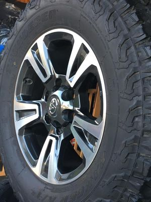 Toyota Tacoma sport rims and tires TPMS included for Sale in Lake Forest, CA