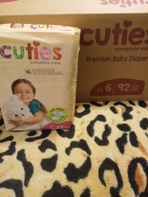 Cuties Complete Care Baby Diapers Size 6 for Sale in Phoenix, AZ