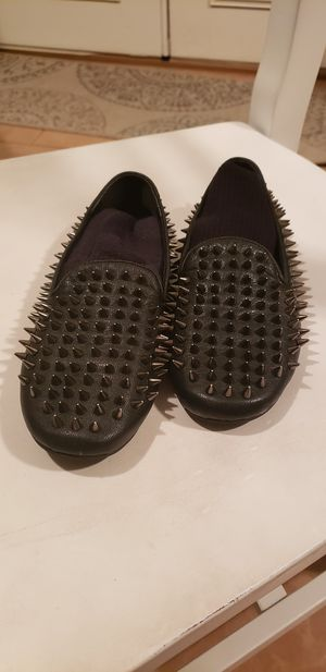 UNIF Womans Hellraiser spiked studded flats loafers sz 5 for Sale in Mesa, AZ