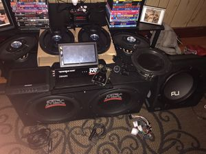 Speakers and car audio system for Sale in Lincoln, RI