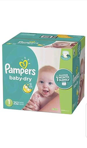 Diapers Disposable Newborn / Size 1 ( 8 - 14 Lb ) , 252 Count Pampers Baby Dry ONE for Sale in Cutler Bay, FL