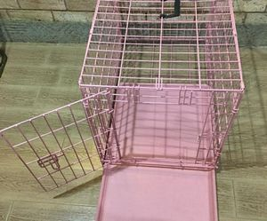 Pink dog kennel never used medium for Sale in Colorado Springs, CO