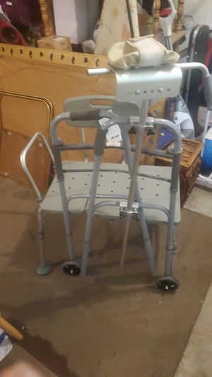 Walker and shower seat for Sale in Tacoma, WA