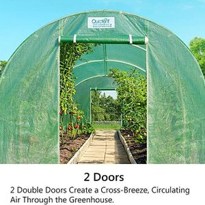 Portable Greenhouse Large Green Garden Hot House Grow Tent More Size (12' X 7' X 7') for Sale in Tompkinsville, KY