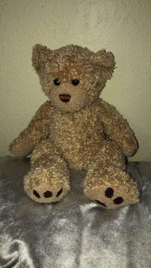 Cute teddy bear plush (curly hair) badge color (build-a-bear workshop) for Sale in Houston, TX