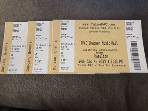 Front Row Hamilton Tickets for Sale in Tulsa, OK