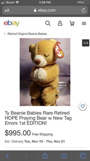 Ty beanie baby 1996 Hope for Sale in Norwalk, CA