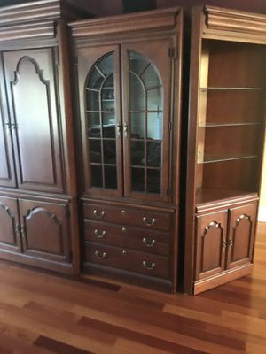 Bookcase Cabinet Solid Cherry Vintage Harden for Sale in Neptune City, NJ