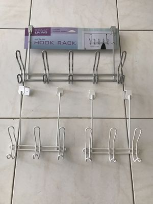 Over the door double hangers for towels and clothes . Set of 3 double hangers -$15 for Sale in North Miami Beach, FL