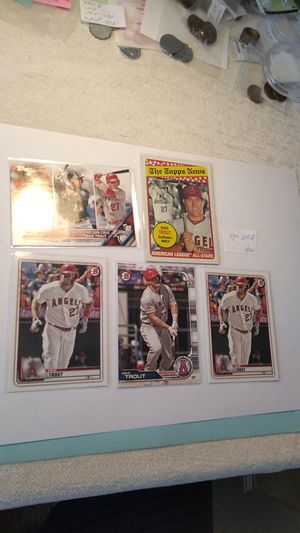 Mike Trout Baseball card lot 5 Bowman & Topps for Sale in Cape Coral, FL