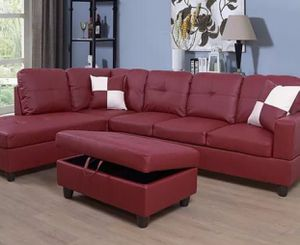 """New 102"""" Plush Sectional With Storage Ottoman In Box 📦 Local Shipping $49 for Sale in Burbank, CA"""