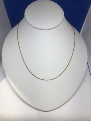 """Beautiful 14k Gold Foxtail Link Necklace 18"""" for Sale in Hinsdale, IL"""