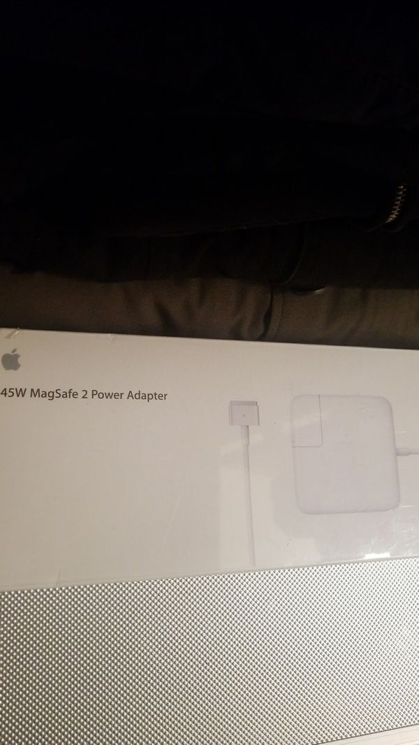 Apple- 45W MagSafe 2 Power Adapter with Magnetic DC Connector - White