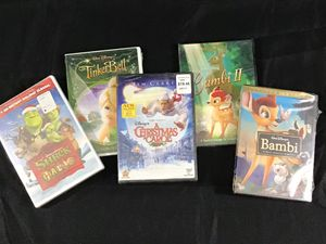 Walt Disney DVD Bundle: Shrek, A Christmas Carol, Bambi, and Bambi II for Sale in Fort Lauderdale, FL