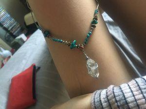 Pure Quartz Pendant on Turquoise Necklace for Sale in Scottsdale, AZ