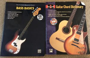 Bass and Acoustic Guitar Music Chord Dictionary Books for Sale in West Springfield, VA