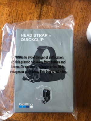 GoPro Head Strap and Quick Clip New - trade for GoPro accessories for Sale in Centennial, CO