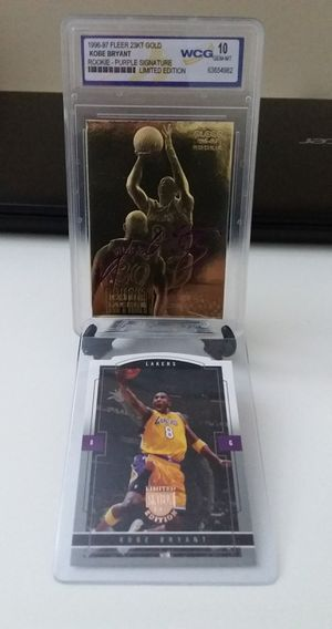1996-97 KOBE BRYANT EX-2000 Credentials 23K GOLD ROOKIE auto print signature *GEM-MINT 10* plus additional card for Sale in Delray Beach, FL