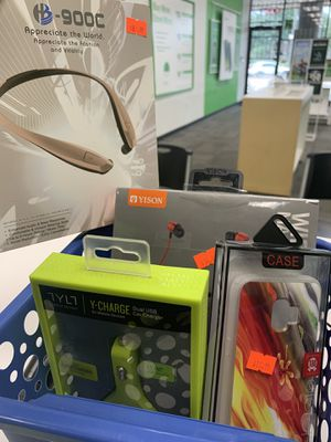 Cases, chargers, Bluetooth headset for Sale in Houston, TX