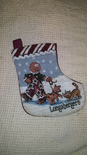Longaberger Gingerbread Christmas Stocking for Sale in Saint Albans, WV