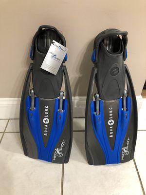Aqua lung dive fins for Sale in Johnson City, TN