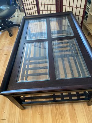 Glass top coffee table for Sale in Falls Church, VA