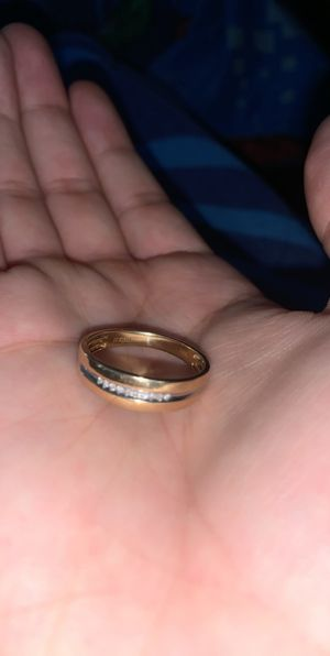 Gold plated ring w diamonds for Sale in Fresno, CA