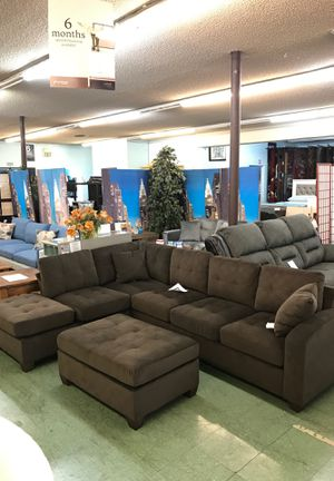 Sectional with Ottoman No credit financing available for Sale in North Highlands, CA