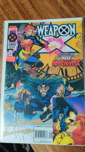 Wolverine lot: 34 comics, 30 cards, 2 action figures for Sale in Seattle, WA