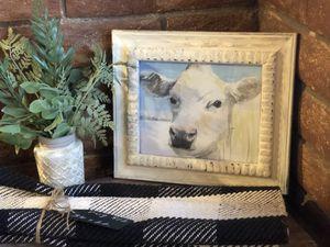 Vintage distressed framed cow decor for Sale in Cave Creek, AZ