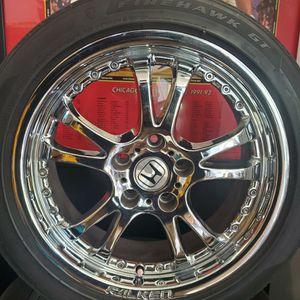 "Falken 17"" Chrome wheels. Price drop!! for Sale in Charlotte, NC"