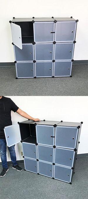 "New in box $35 Plastic Storage 9-Cube DYI Shelf with Door Clothing Wardobe 43""x14""x43"" for Sale in Whittier, CA"