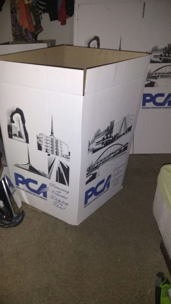 4 big moving boxes PCA new