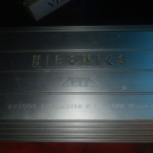 Hifonics 5 Channel Amp Zx8000 for Sale in Moreno Valley, CA