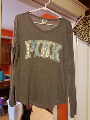 Victoria secret pink long sleeved shirt size large excellent condition for Sale in Sugar Creek, MO