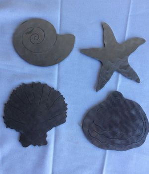 Sea shell metal coasters for Sale in Naples, FL