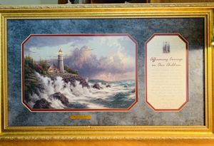 THOMAS KINKADE w CERTIFICATE of AUTHENTICITY-~ Conquering the Storms - May 2003 for Sale in Anaheim, CA